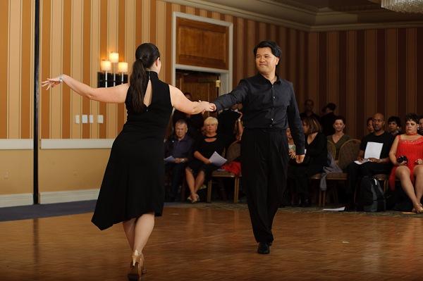 Dancing at an Arthur Murray Showcase event in Tysons, VA