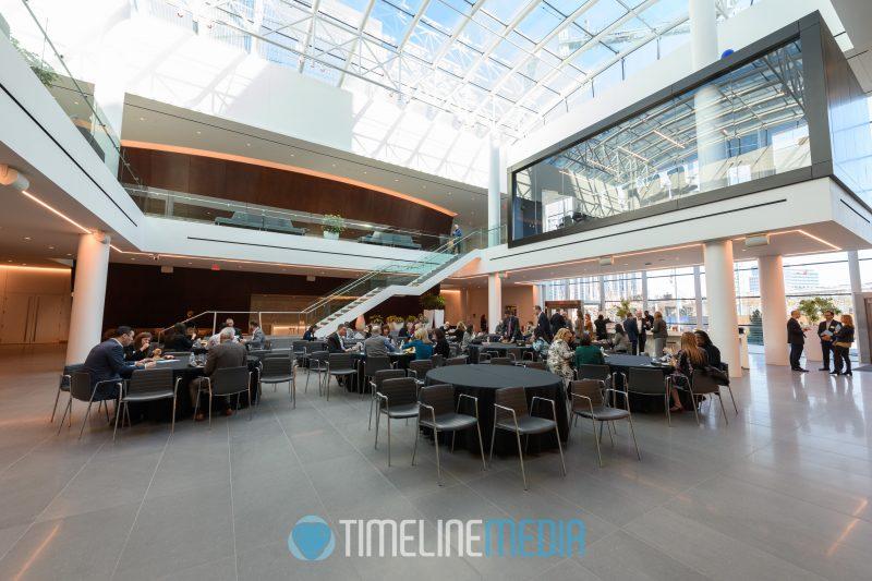 Capital One HQ atrium during a Tysons Partnership event ©TimeLine Media