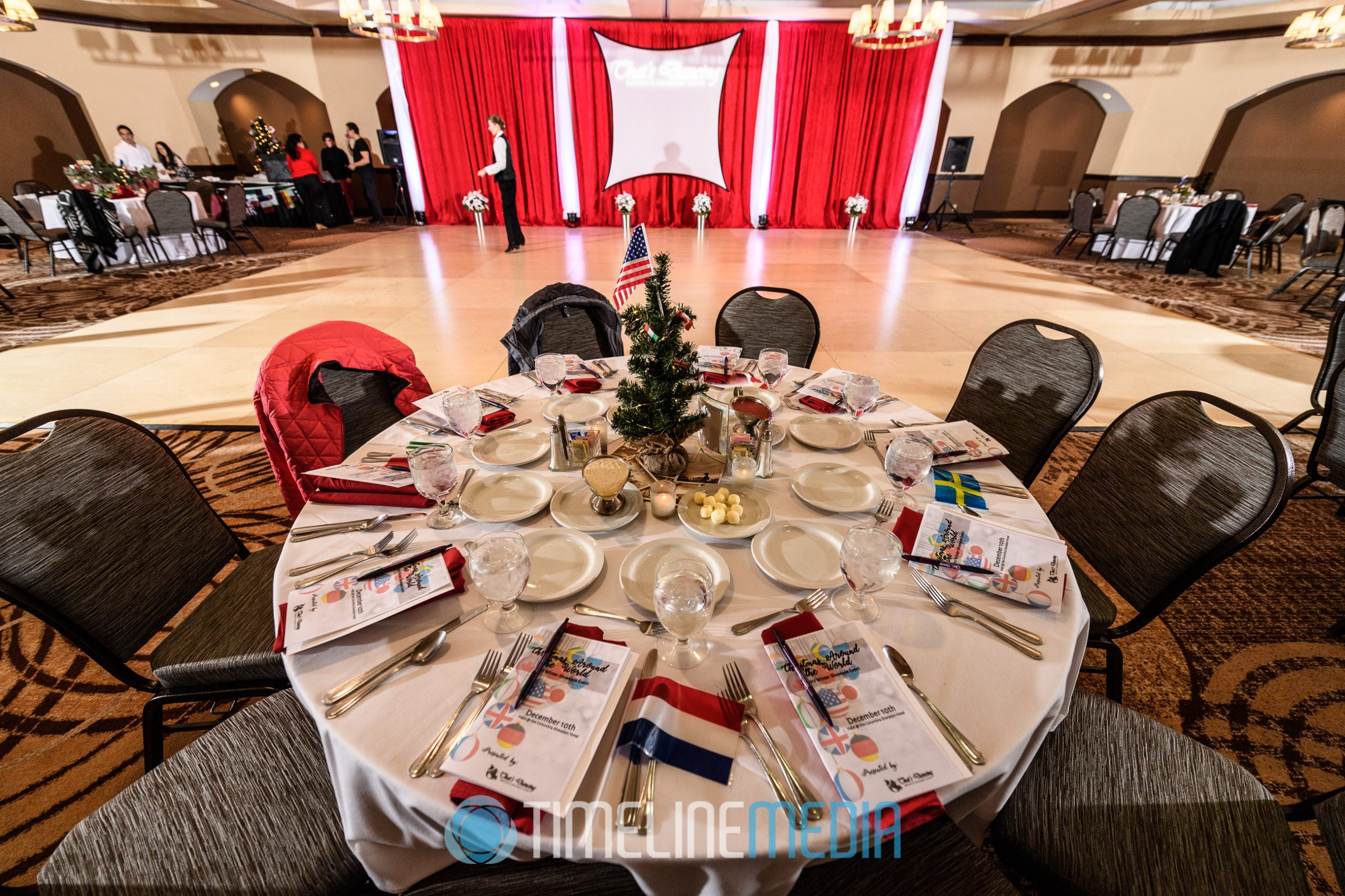 Ballroom set for the 2017 That's Dancing Winter Showcase at the Sheraton Columbia, Maryland ©TimeLine Media