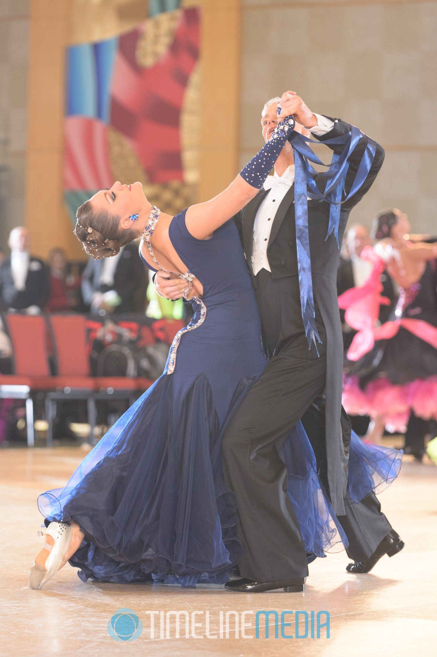 USA Dance couple compete in Standard dancing ©TimeLine Media