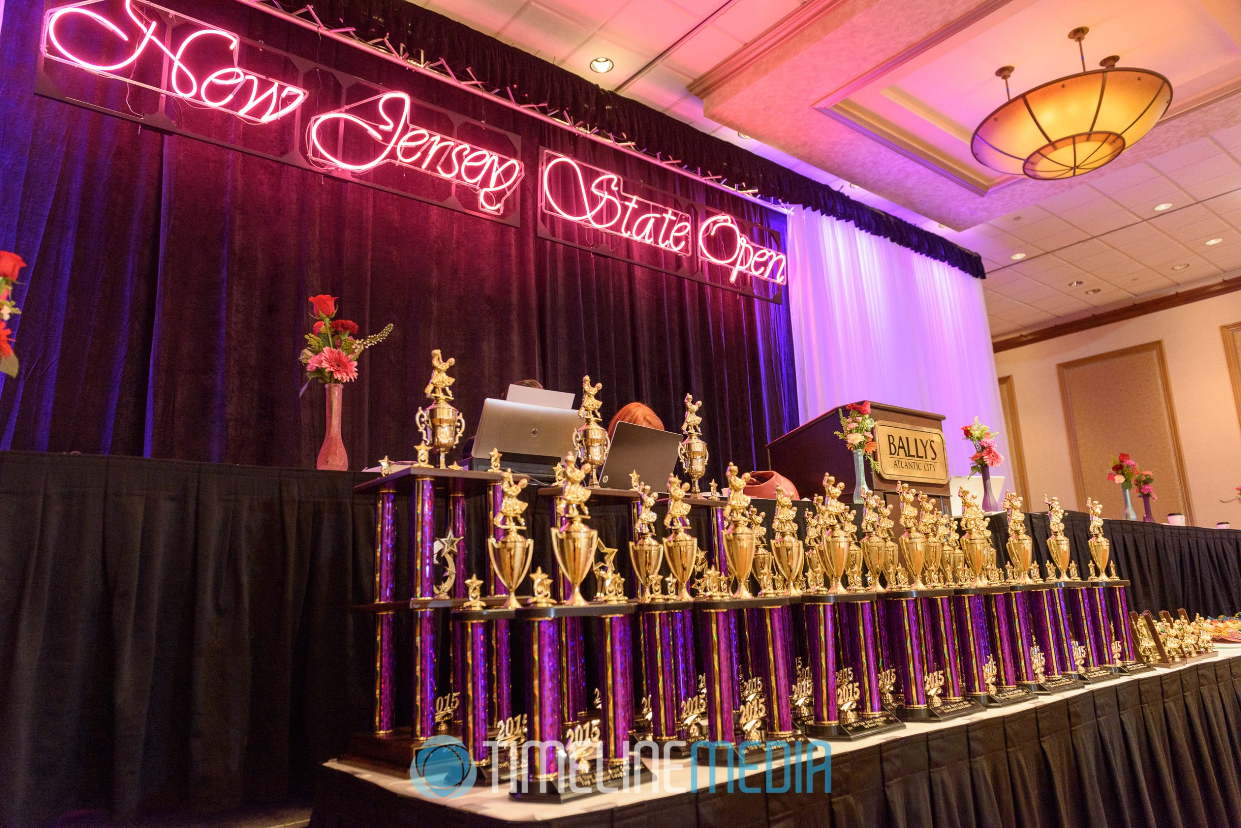 Dance competition trophies from the New Jersey State Open at Bally's Atlantic City, NJ ©TimeLine Media