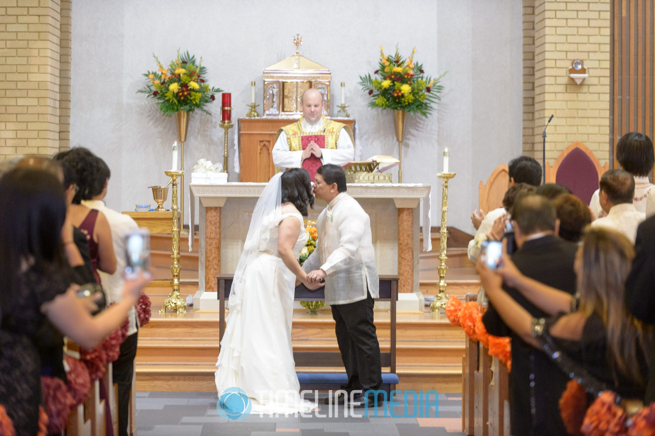 Jo and Claro's wedding at Our Lady of Angels Church in Woodbridge, VA ©TimeLine Media