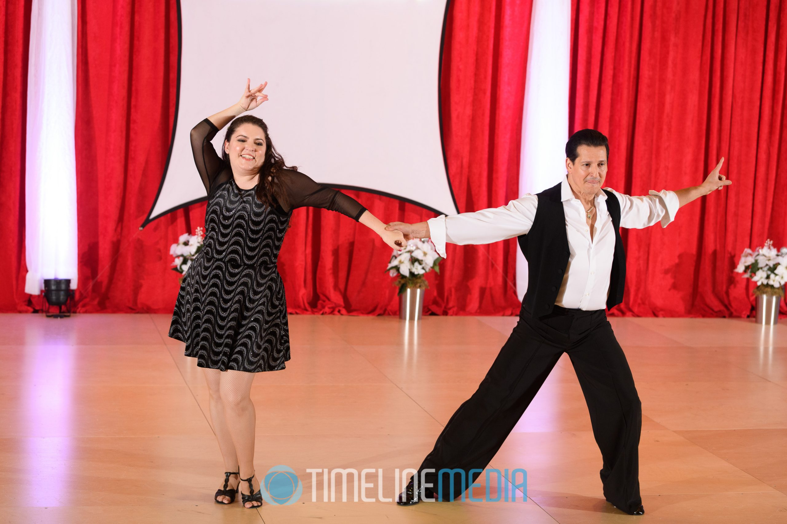 Christina and Carlos dancing a professional show ©TimeLine Media