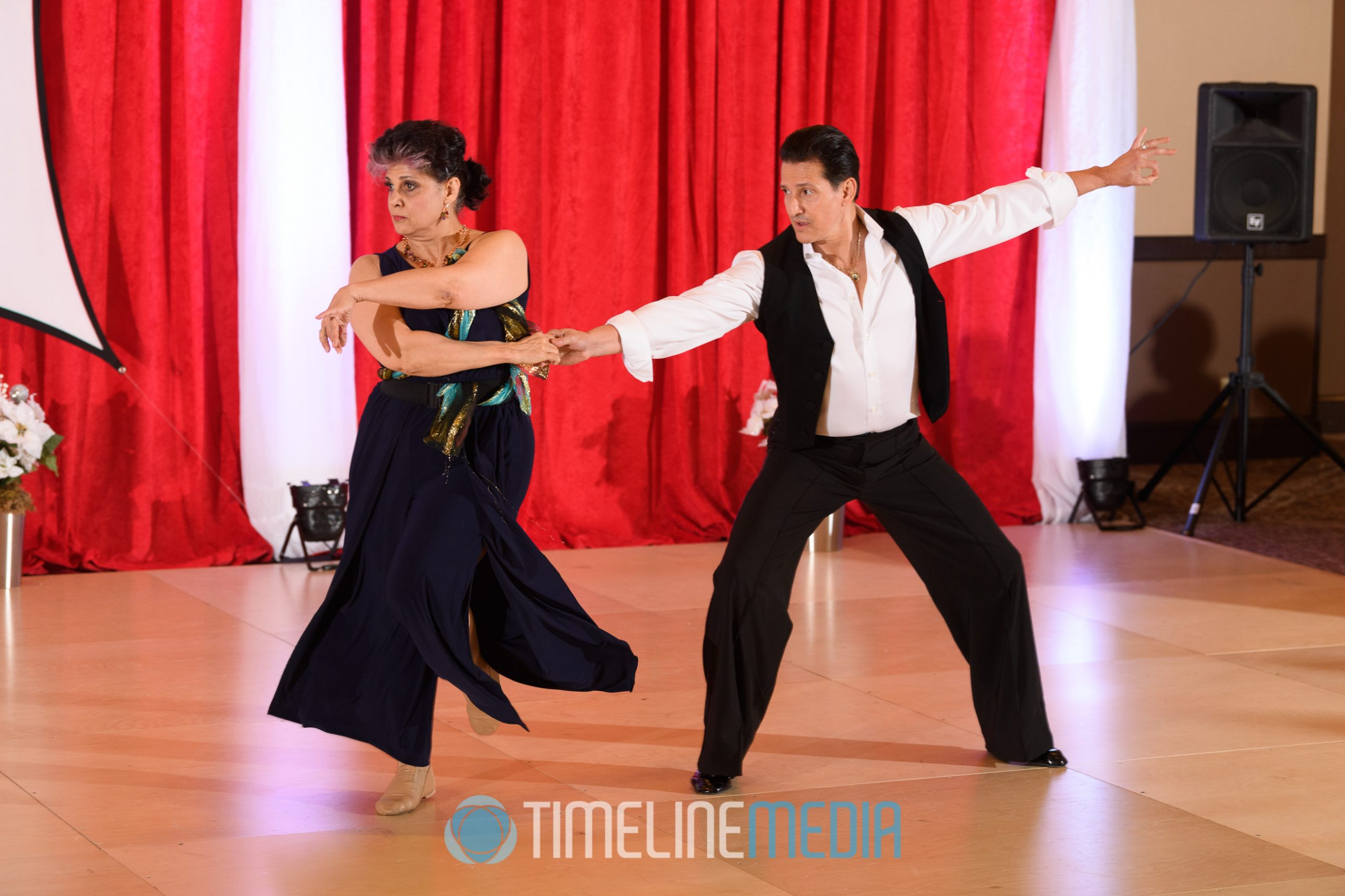 Jackie and Carlos dancing a professional show ©TimeLine Media