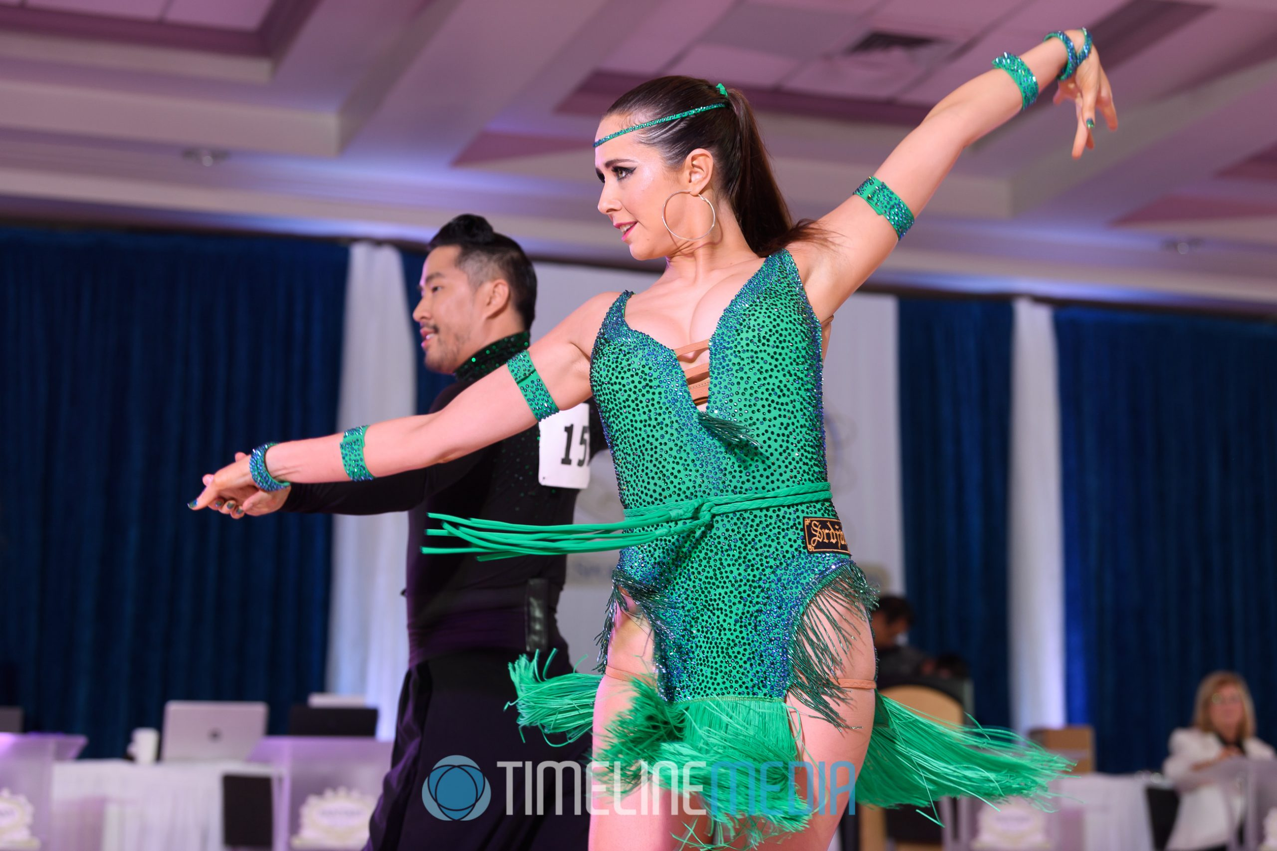Latin dancers at the 2019 Fantasy Ball Dancesport Competition ©TimeLine Media