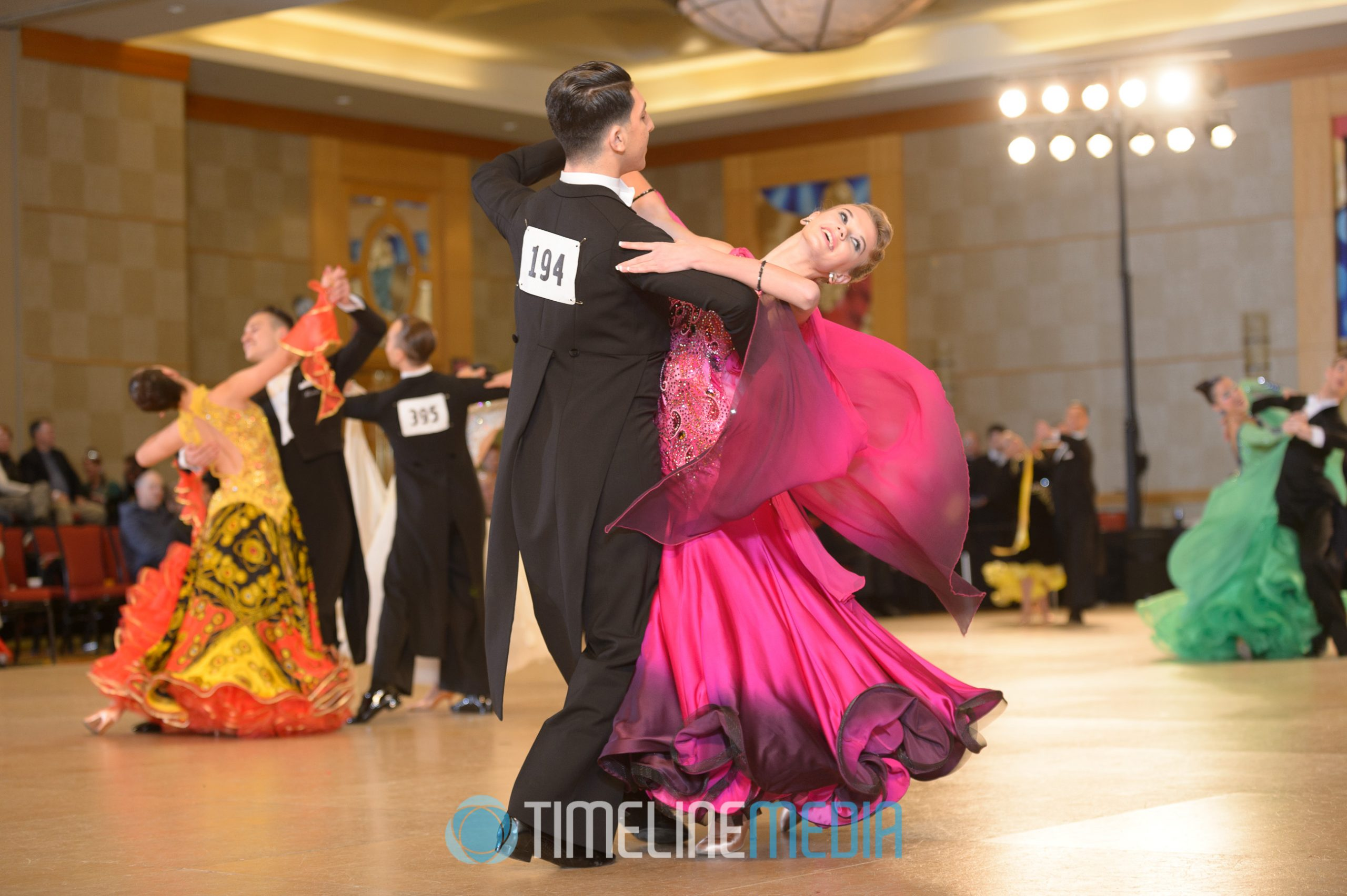 Colorful ballroom dresses - USA Dance competition ©TimeLine Media