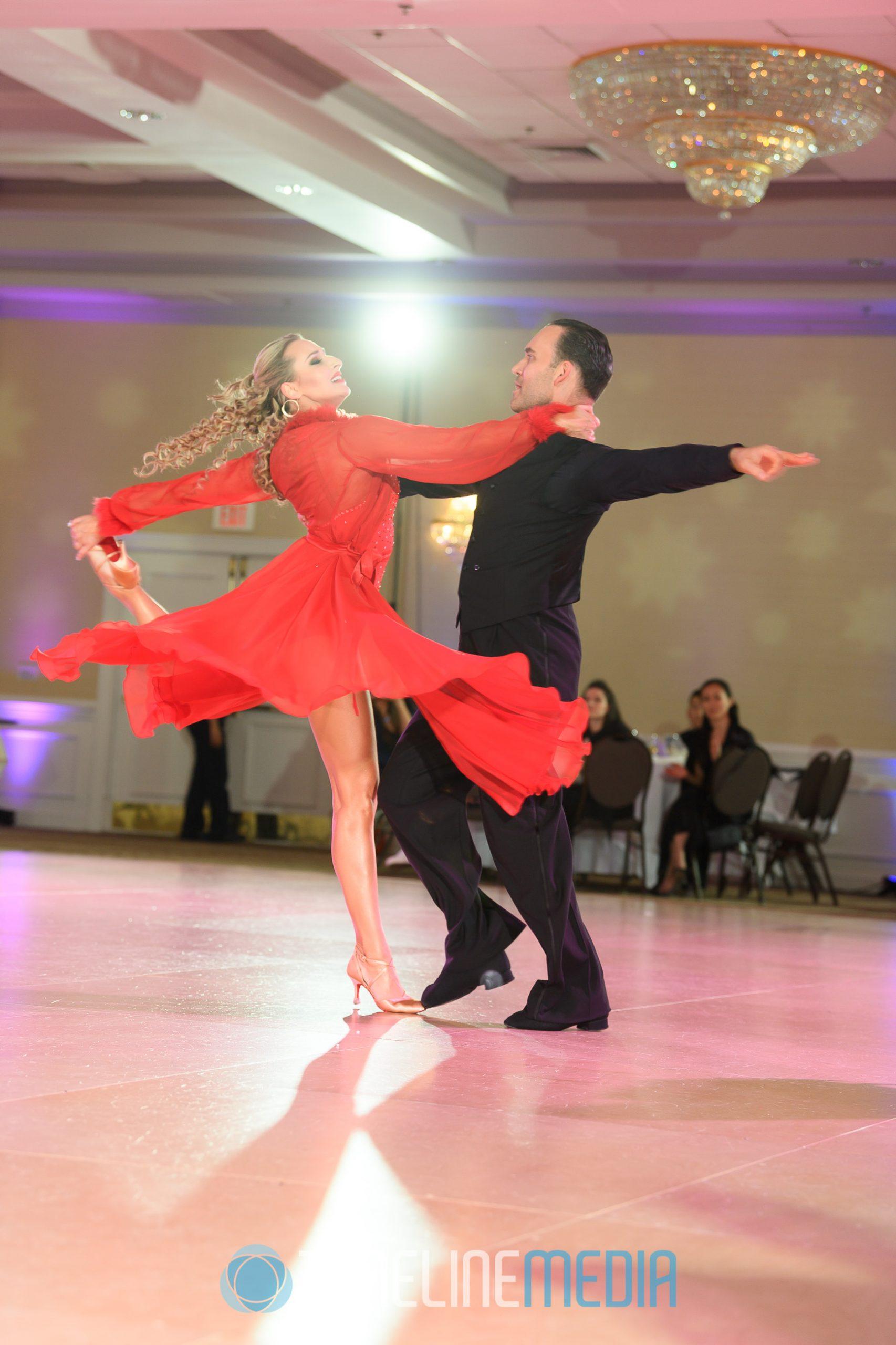 Max Sinitsa and Tatiana Seliverstova performing a professional dance show 2019 Fantasy Ball ©TimeLine Media
