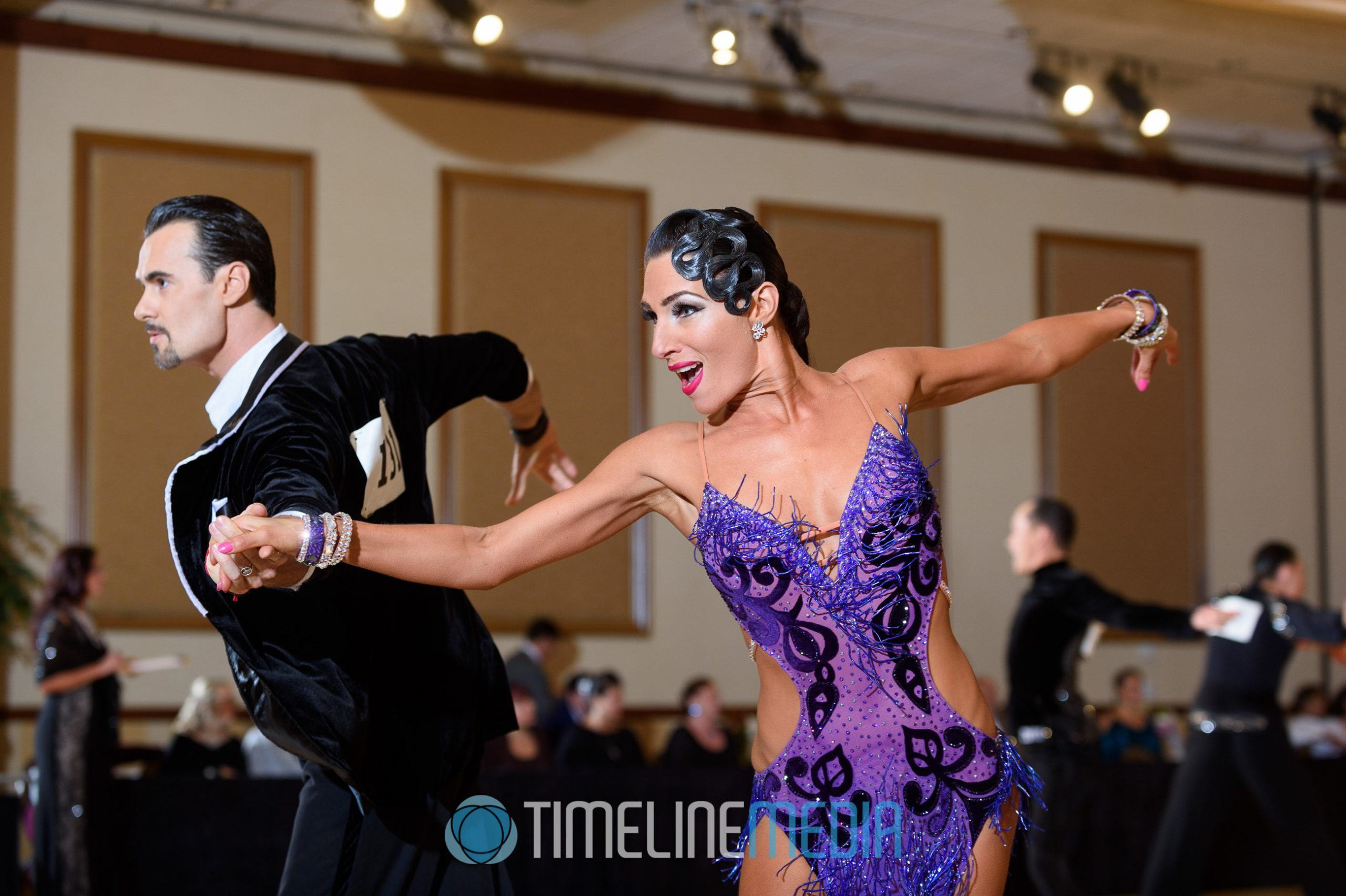 Professional Latin dancers in competition ©TimeLine Media