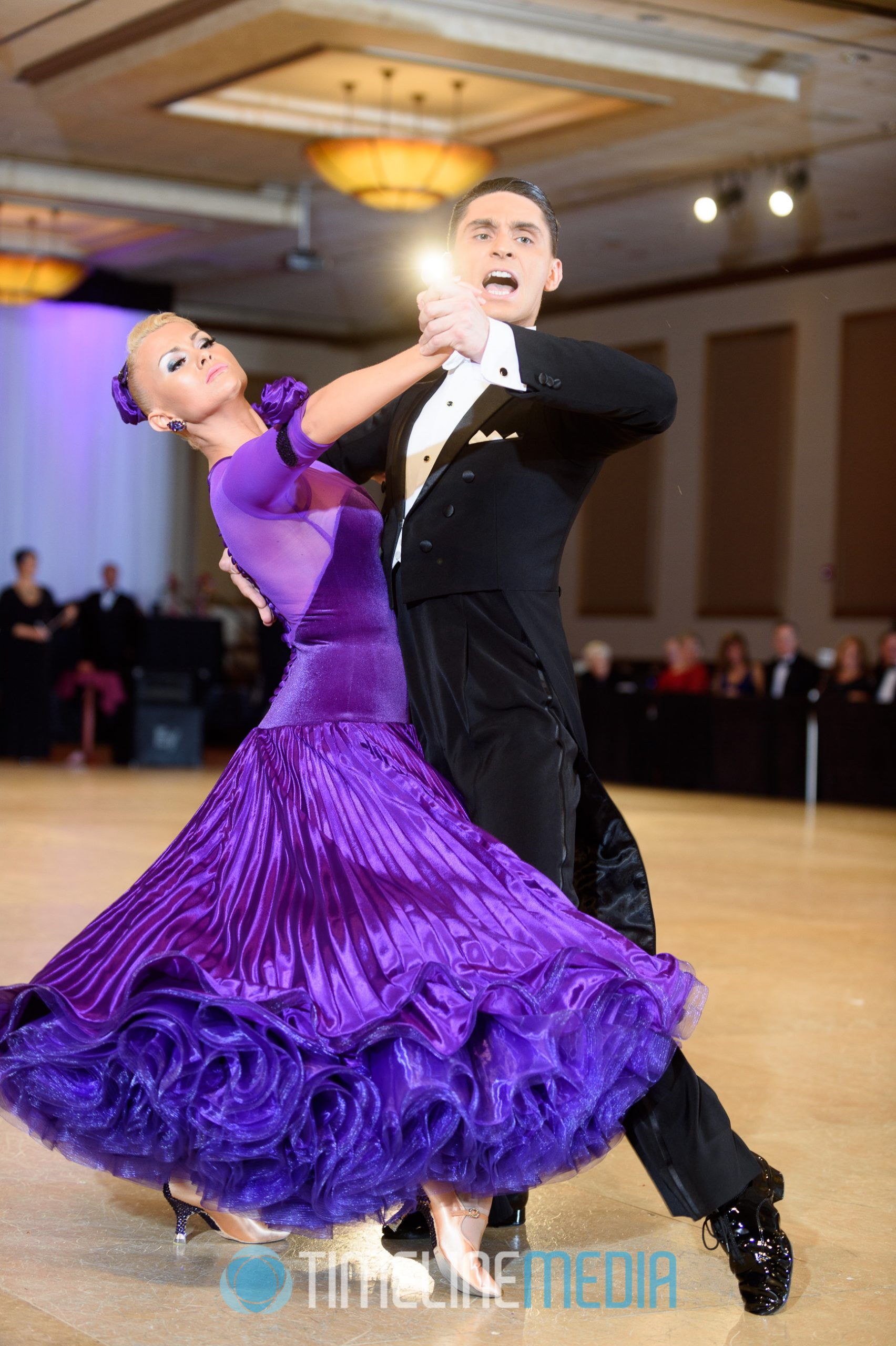 American Smooth ballroom dancers in competition ©TimeLine Media
