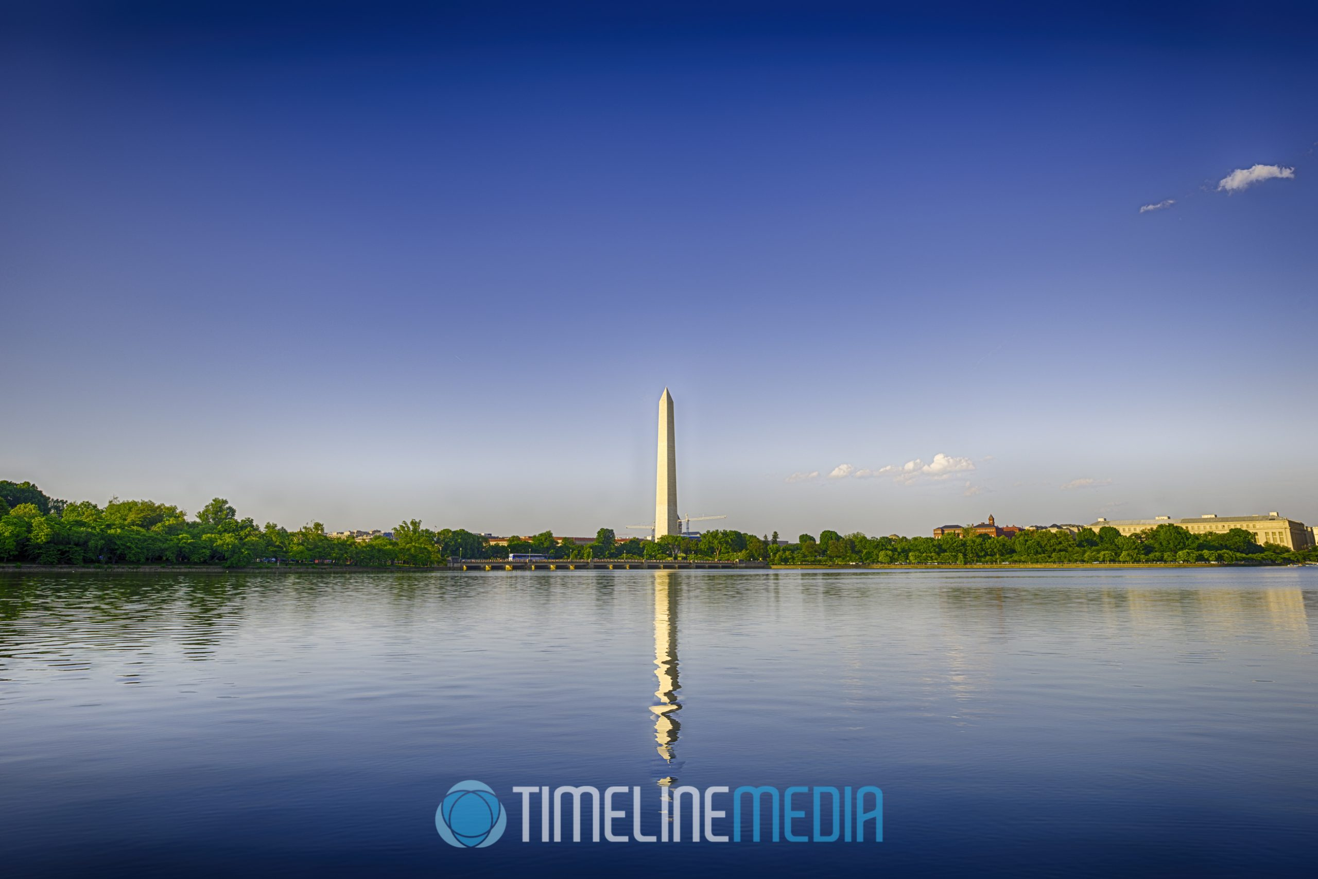 Washington Monument from Tidal Basin ©TimeLine Media
