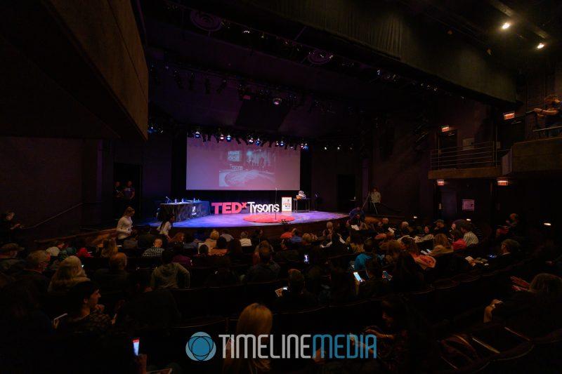 Alden Theatre stage set for a TEDx event ©TimeLine Media