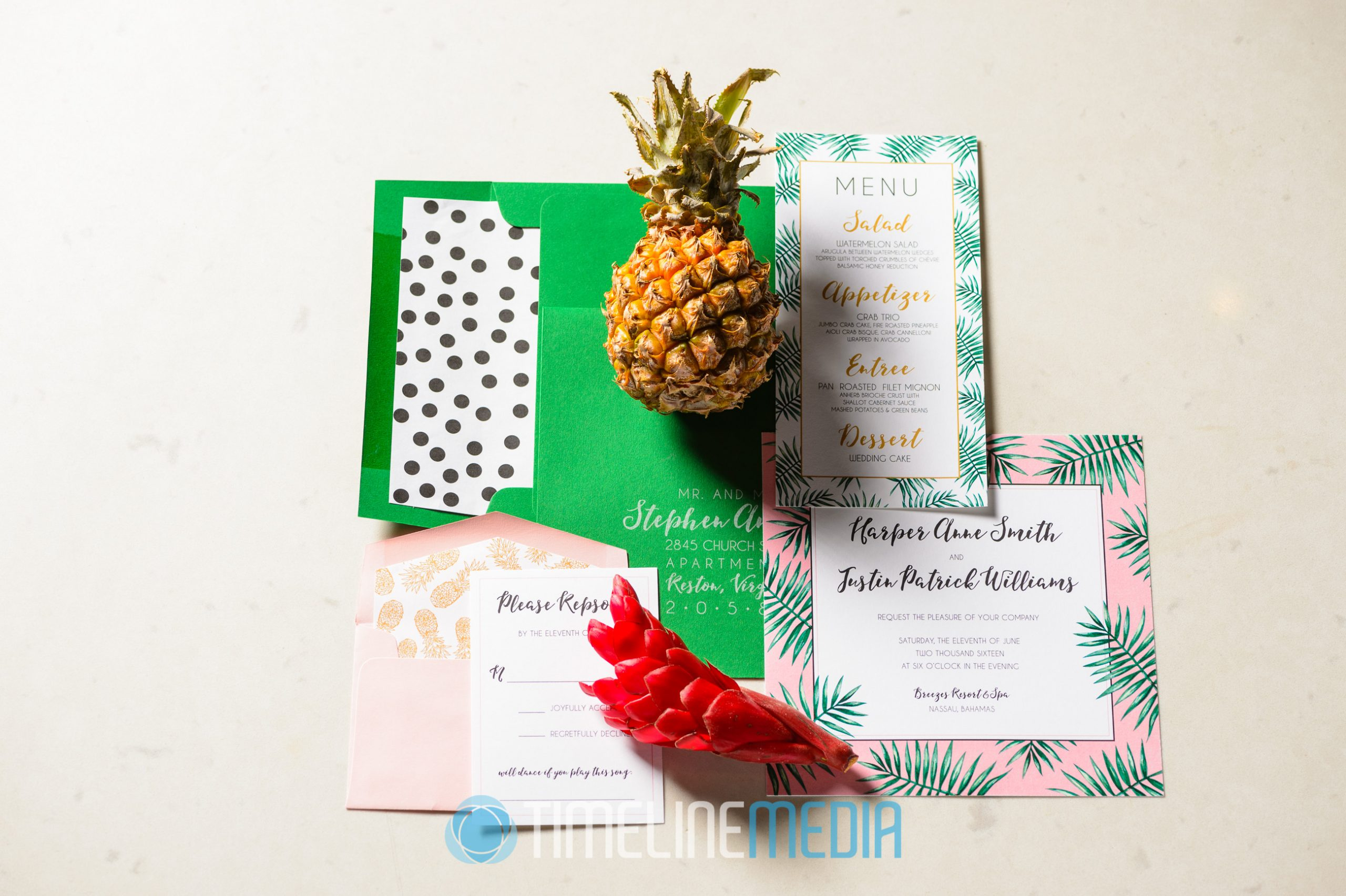Wedding Invitation - Andrew Roby Events style shoot ©TimeLine Media