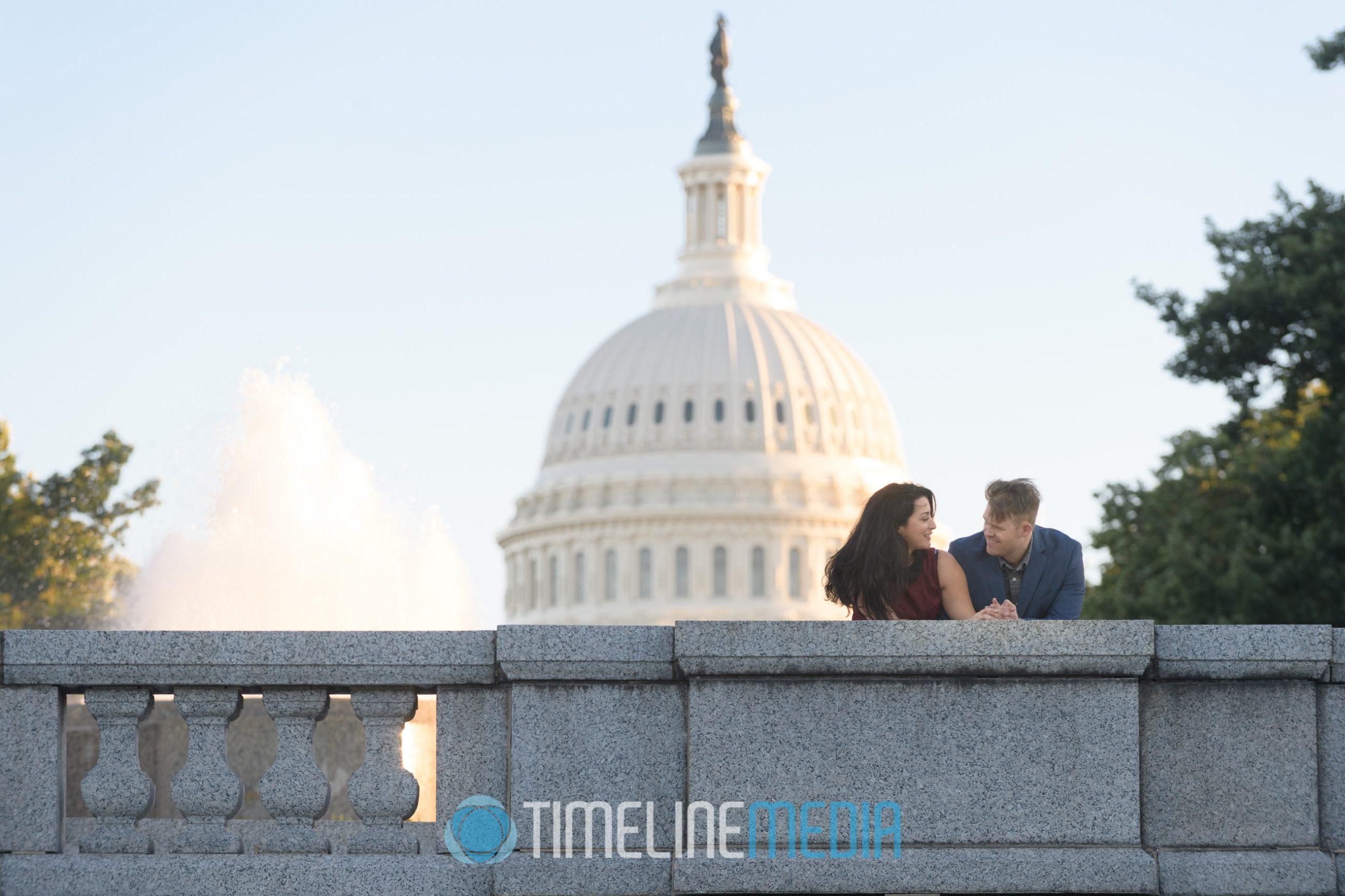 Frances and Carlo Engagement photo session in Washington, DC ©TimeLine Media