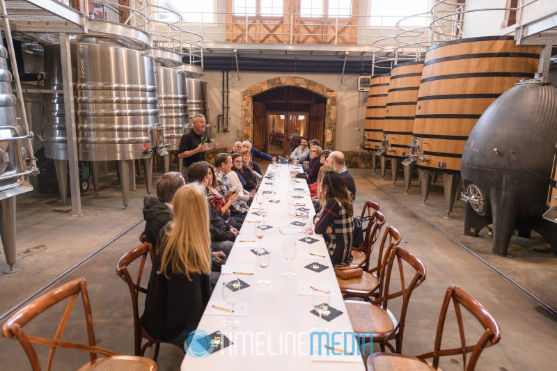 Stone Tower Winery tasting room in Leesburg, VA - venue for the Board Retreat for the Tysons Chamber ©TimeLine Media