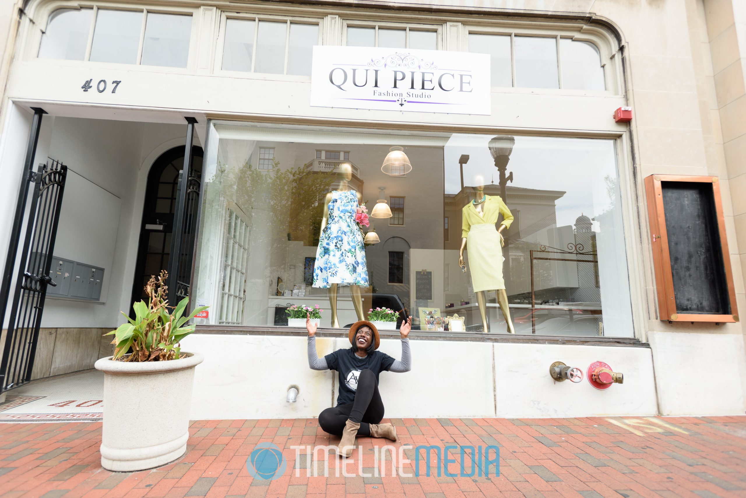 Qui Piece store front in Baltimore, Maryland ©TimeLine Media