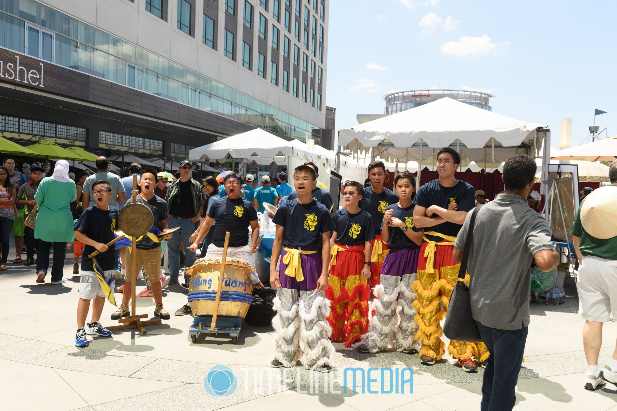 Drummers performing at VietFest on the Plaza at Tysons Corner Center