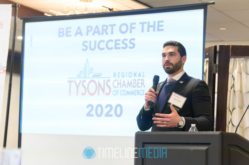 Tysons Chair Tucker Gladhill speaking at the Tower Club ©TimeLine Media