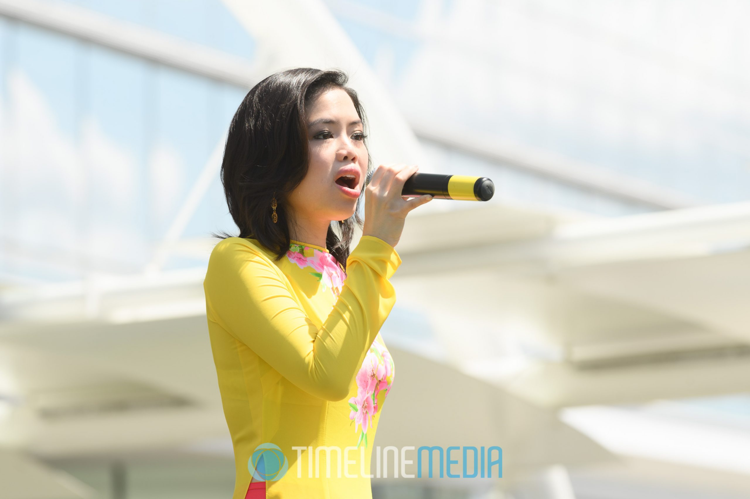 Singer at VietFest on the Plaza at Tysons Corner Center