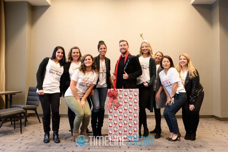 Lance Bass - a gift for the Macerich team at Tysons Corner Center