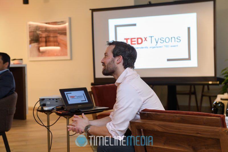 Ashwood at a Volunteer Dinner for TEDxTysons at Industrious in Arlington, VA ©TimeLine Media
