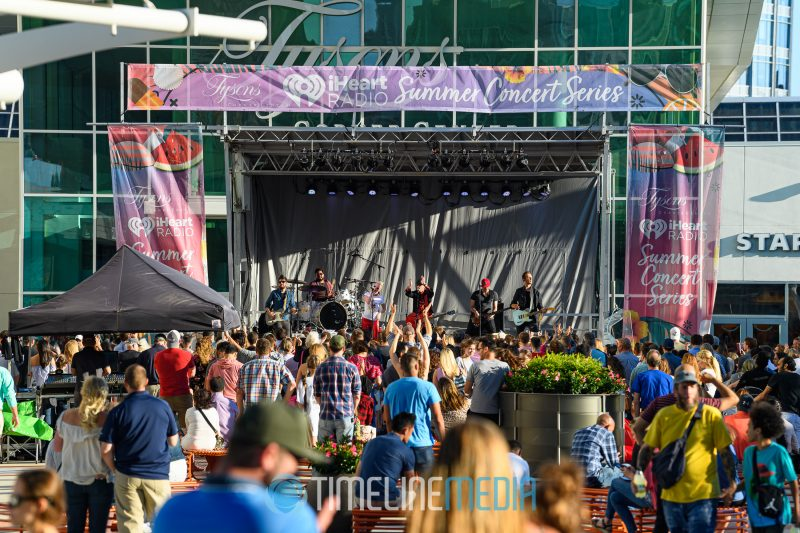 iHeart Radio Summer Concert Series stage on the Plaza at Tysons Corner Center