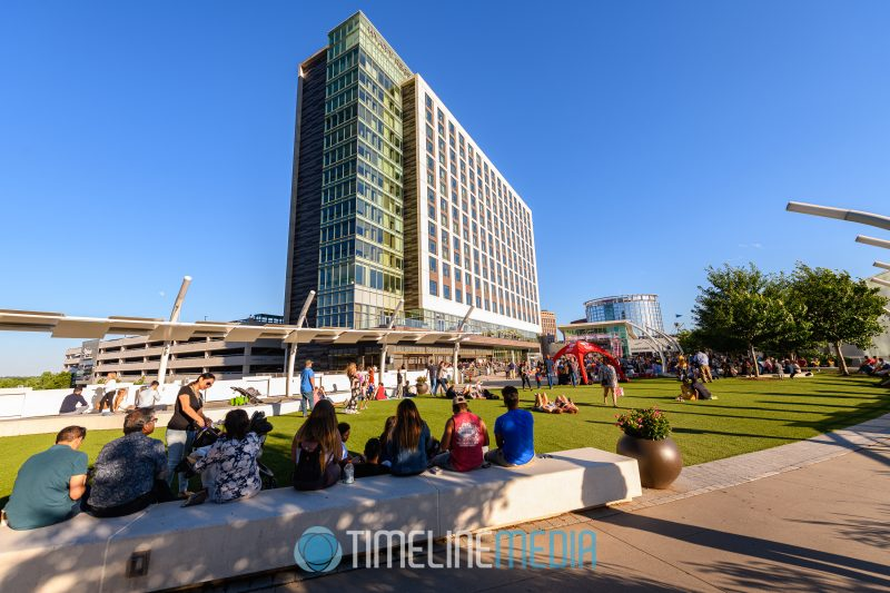Beautiful afternoon on the Plaza at Tysons Corner Center for a summer concert performance