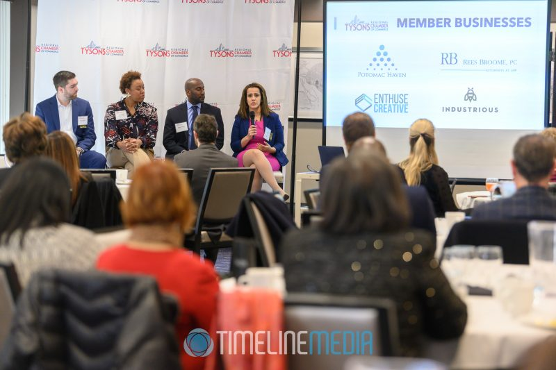 Kevin Schafer, Tammy White, Reggie Holmes, Mariam Tadros - panel at the Tysons Chamber ©TimeLine Media