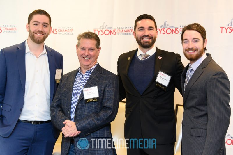 Kevin Schafer, Andrew Clark, Tucker Gladhill, and Alex Robbins at the Tower Club ©TimeLine Media