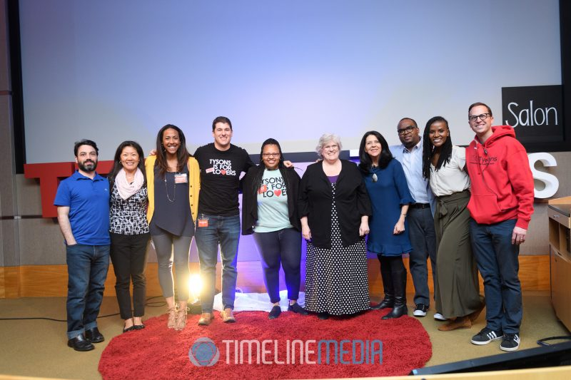 Speakers, host, & organizers of TEDxTysons salon at Booz Allen Hamilton ©TimeLIne Media