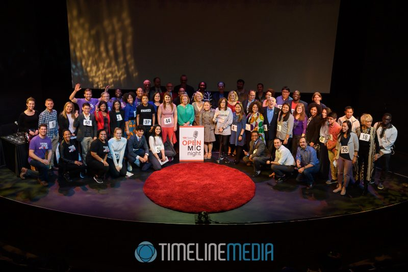 Contestants and TEDxTysons staff at the Open Mic Night in McLean, VA ©TimeLIne Media