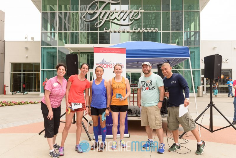 Runners and Sponsors at the Tysons Chamber 5k ©TimeLine Media