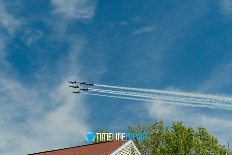 Blue Angels America Strong flyover in Falls Church, Virginia ©TimeLine Media