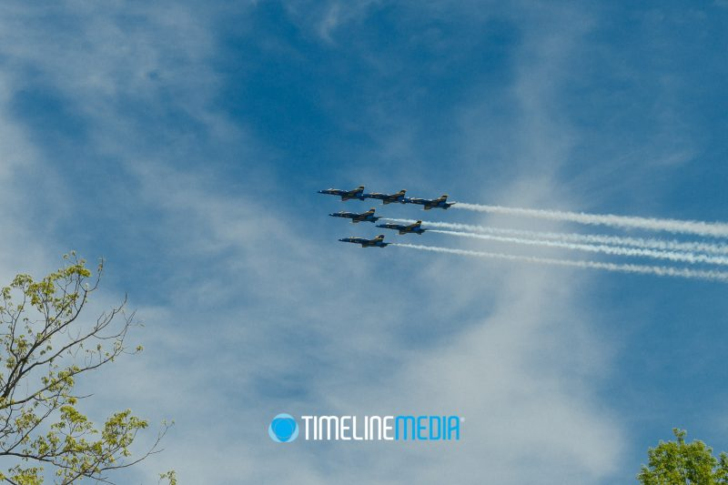 Blue Angels flying over Falls Church, Virginia - May 2, 2020 ©TimeLine Media