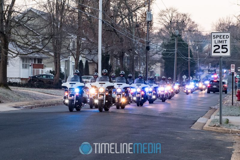 Fairfax County police motorcycles during the Santa Ride ©TimeLine Media