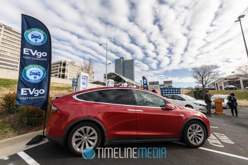 EVgo charging station at Pike 7 Plaza ©TimeLine Media