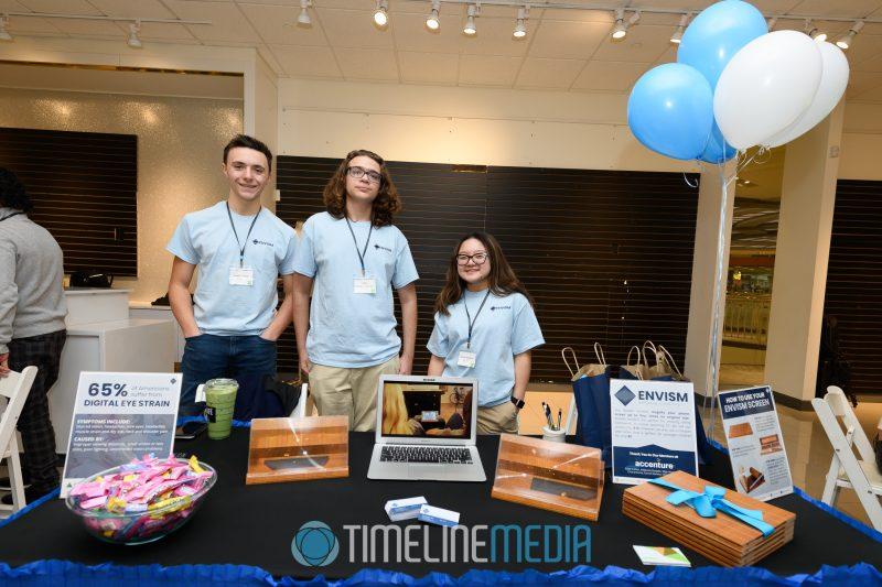 Envisim team at the Junior Achievement event at Tysons Corner Center