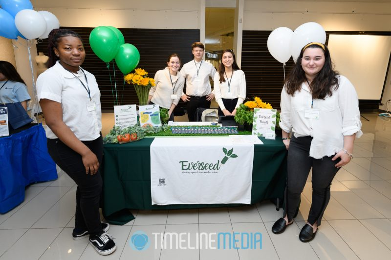 Everseed team at the Junior Achievement event at Tysons Corner Center