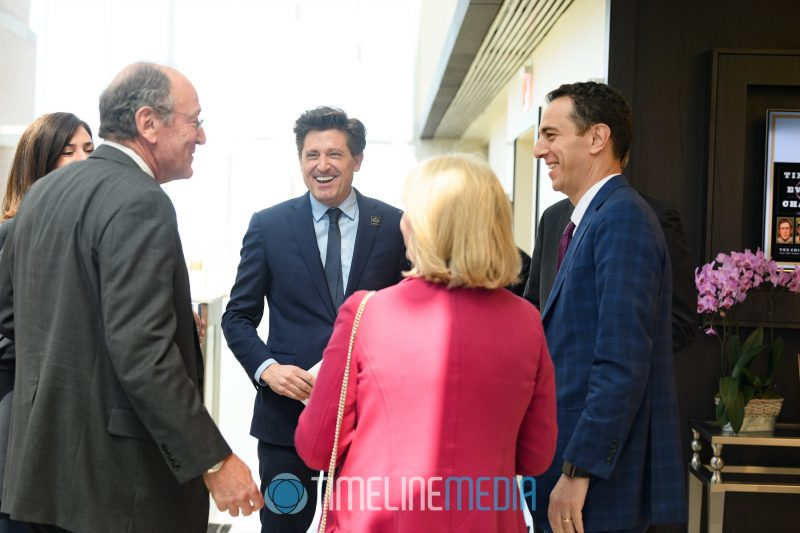 Arconic executives greeting guests at the Tysons Tower Club ©TimeLine Media