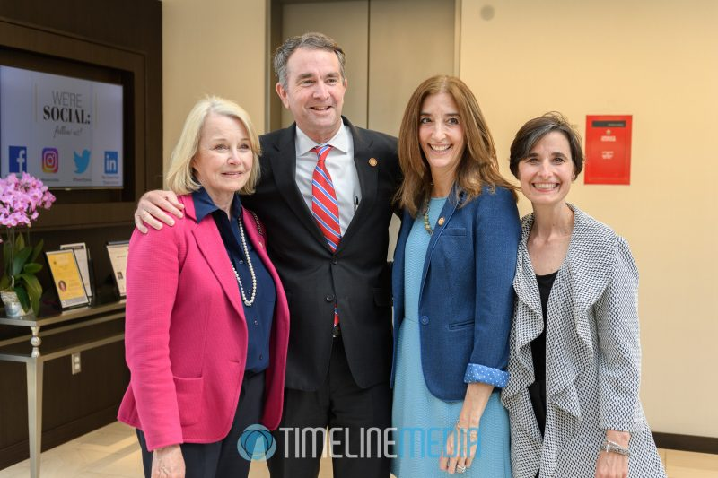 Networking with Virginia Governor Ralph Northam at the Tysons Tower Club ©TimeLine Media