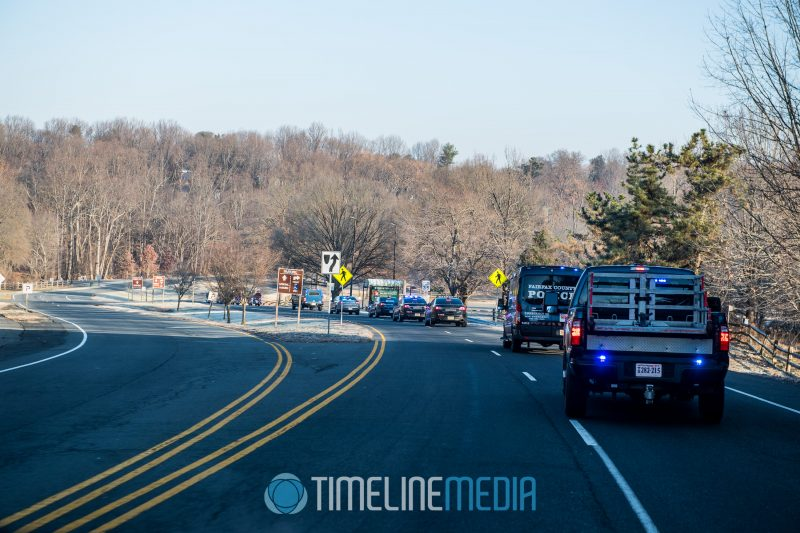Fairfax County police vehicle riding passed Wolf Trap during their Santa Ride ©TimeLine Media