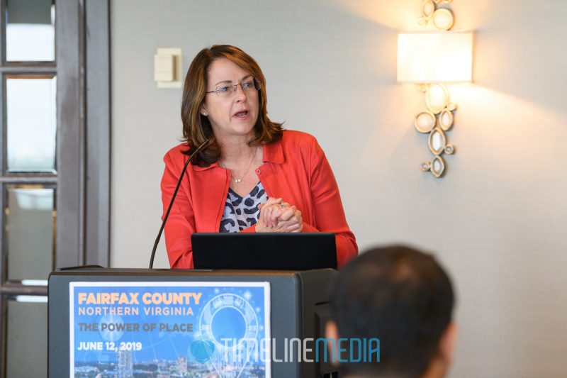 Carolyn Eichler, Capgemini Government Solutions speaking at the Tower Club in Tysons, VA ©TimeLine Media