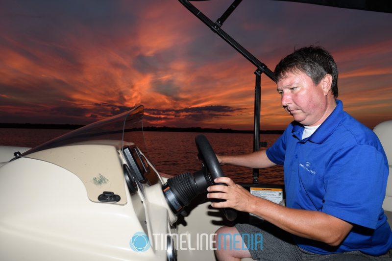 Sunset boat ride hosting by George on Belmont Bay in Woodbridge, VA ©TimeLine Media