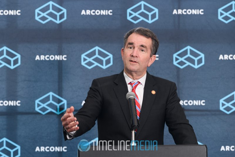 Virginia Governor Ralph Northam speaking at the Tower Club ©TimeLine Media