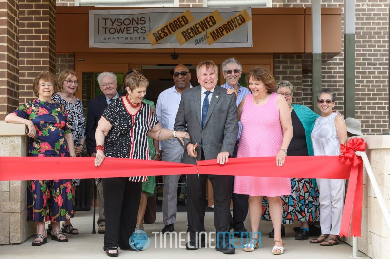 Tysons Tower Apartments ribbon cutting at their grand reopening ©TimeLine Media
