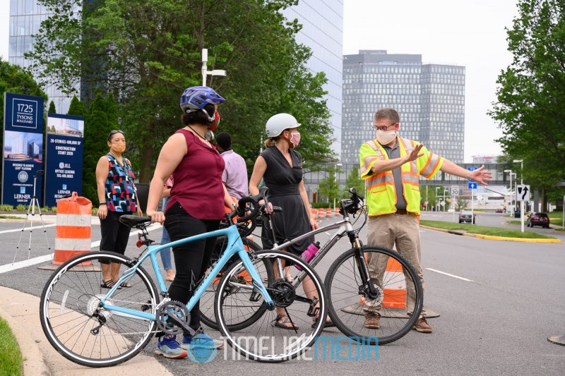 Bike Riders getting ready to test the Tysons Open Streets project ©TimeLine Media