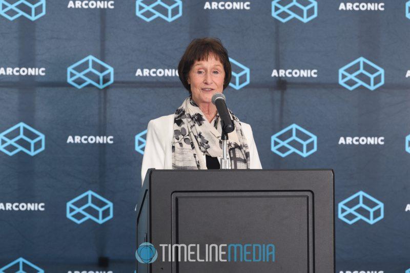Fairfax Supervisor Chairman Sharon Bulova speaking at the Tysons Tower Club ©TimeLine Media