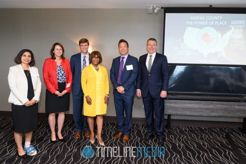 Speakers from the Power of Place event at the Tysons Tower Club ©TimeLine Media