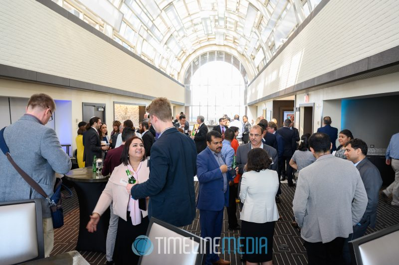 Networking at the FCEDA The Power of Place event at the Tysons Tower Club ©TimeLine Media