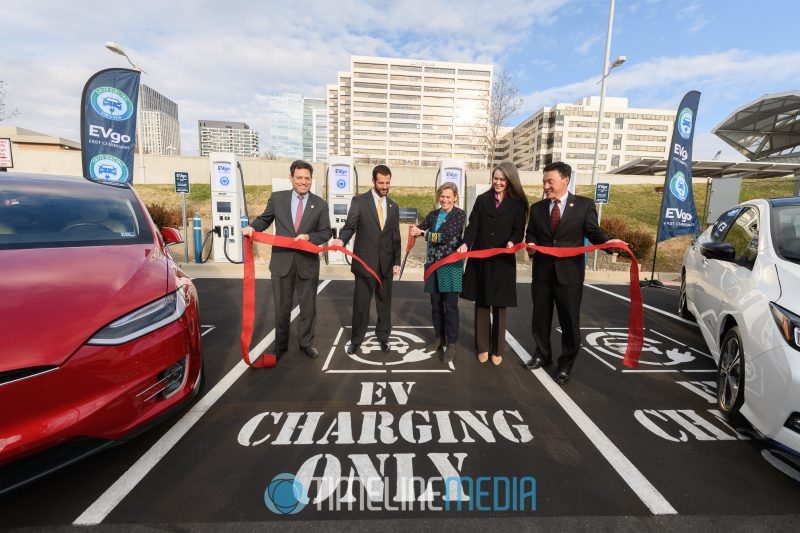 EVgo charging station ribbon cutting at Pike 7 Plaza ©TimeLine Media