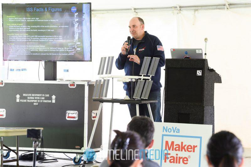 Speakers at the NoVA Maker Faire tent at GMU ©TimeLine Media